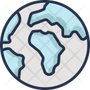 Earth Globe Planet Round The Earth Icon