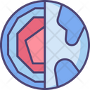 Earth Layer Geology Layer Earth Icon