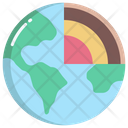 Earth Layers Layer Planet Icon