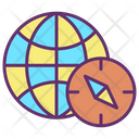 Mnavigation Compass Earth Map Earth Map Global Map Icon