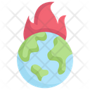 Earth On Fire Icon