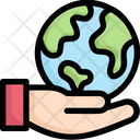 Earth On Hand Icon