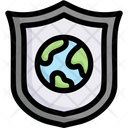 Earth On Shield Icon