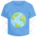 Earth On T Shirt Icon
