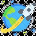 Earth Rocket Icon