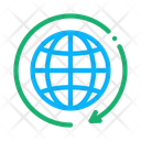 Earth Turn Electricity Icon
