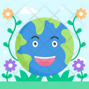Earth Smile Icon