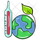 Earth Temperature Hot Weather Planet Temperature Icon