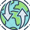 Earthmoving Global Planet Icon