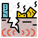 Earthquake Geohazard Fissure Icon