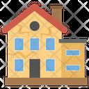 Earthquake Natural Disaster Broken Home Icon