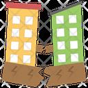 Earthquake Natural Disaster Broken Building Icon