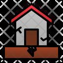 Earthquake Disaster House Icon
