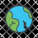 Earthquake Tremor Crack Icon