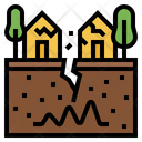 Earthquake Climate Change Disaster Icon