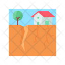 Earthquake Disaster Destruction Icon