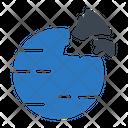 Earth Planet Broken Icon