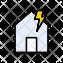 Earthquake House Home Icon