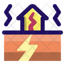 Earthquake Disaster Vibration Icon
