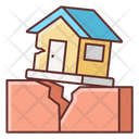 Earthquake Buildings Cracked Icon
