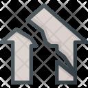 Earthquake Apartment House Icon