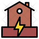 Earthquake House Damage House Icon