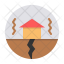 Earthquake Shake Building Icon