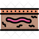 Earthworm In Earth Icon