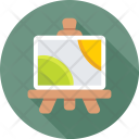 Easel Landscape Canvas Icon