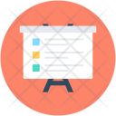 Easel Board Presentation Icon