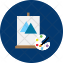 Coloring Brush Easel Icon