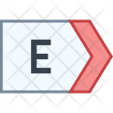 East Direction Tag Icon