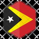 Timor Flag Country Icon