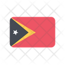 East Timor Flag Country Icon