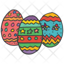 Easter Decorated Eggs Icon