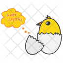 Easter Chicken Egg Icon