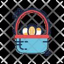 Easter Basket Egg Basket Holiday Icon
