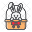 Bunny Basket Rabbit Icon