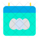 Easter Day Easter Date Calender Icon