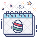 Easter Day Calendar Easter Calendar Icon