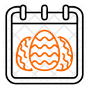 Easter Day Calendar Icon