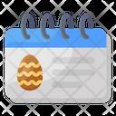 Easter Day Calendar Easter Calendar Icon