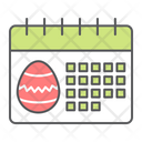 Easter Day Calendar Holiday Icon