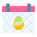 Easter Day Calendar Date Icon