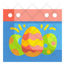 Easter Day Easter Calendar Icon