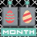 Easter Day Celebration Calendar Icon