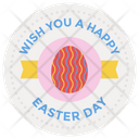 Easter Day Badge Easter Emblem Easter Logo Icon