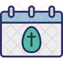 Calendar Easter Easter Day Icon