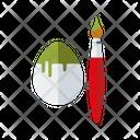 Easter Egg Egg Paint Brush Icon
