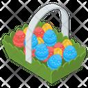 Easter Basket Easter Egg Basket Easter Bucket Icon